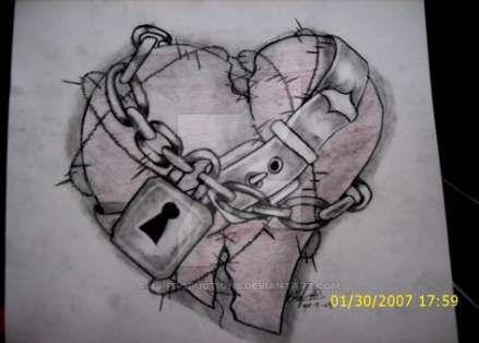 Broken Heart Tattoo Design Meaning (8)