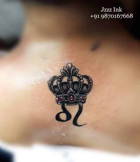Leo Zodiac Horoscope Sign Symbol Tattoo Designs (1)