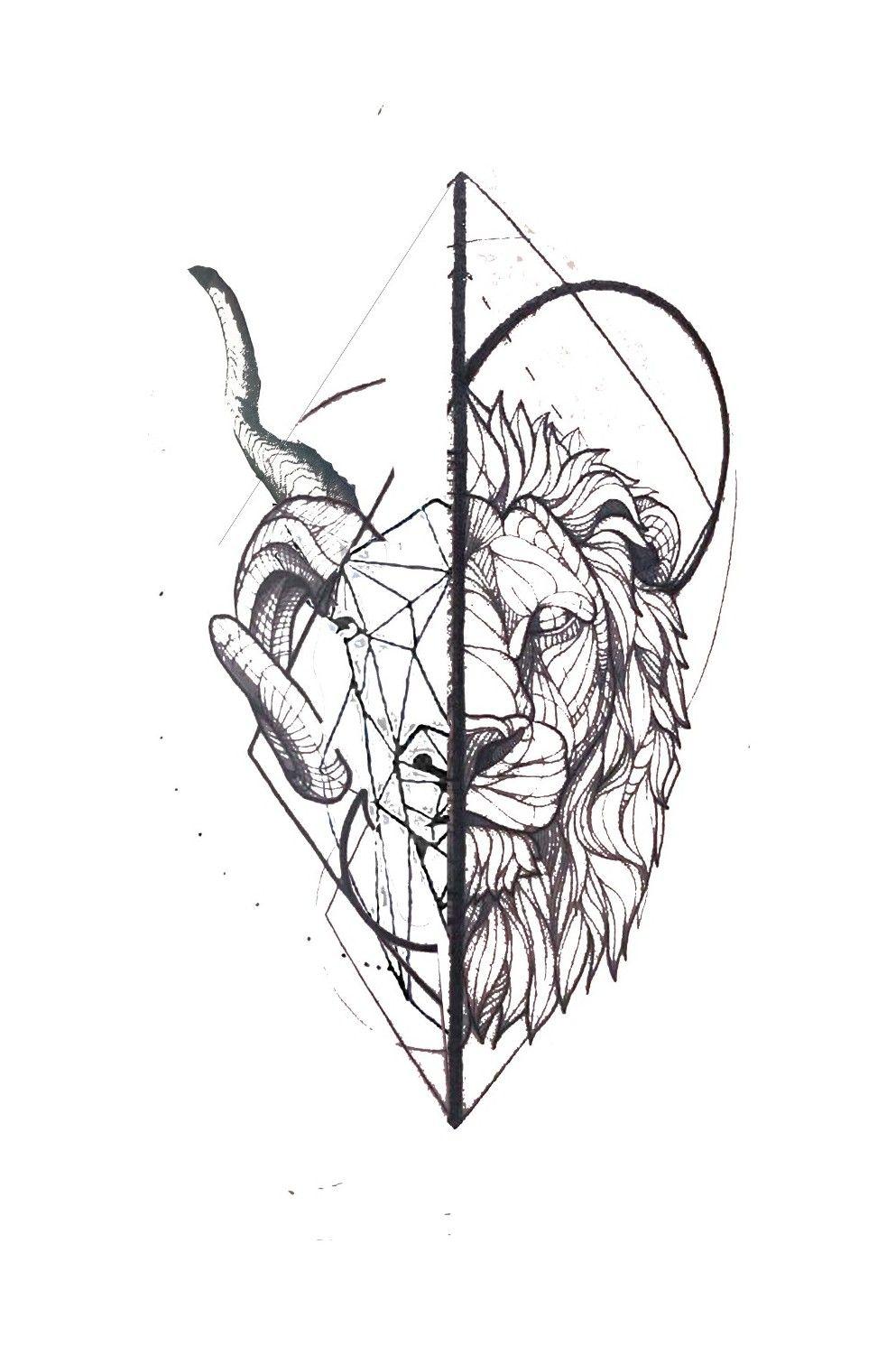 Leo Zodiac Horoscope Sign Symbol Tattoo Designs (104)