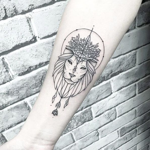Leo Zodiac Horoscope Sign Symbol Tattoo Designs (114)