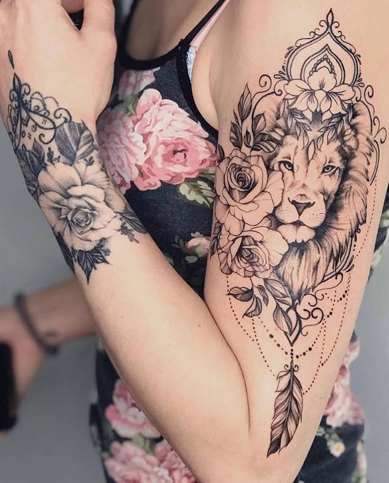 Leo Zodiac Horoscope Sign Symbol Tattoo Designs (121)