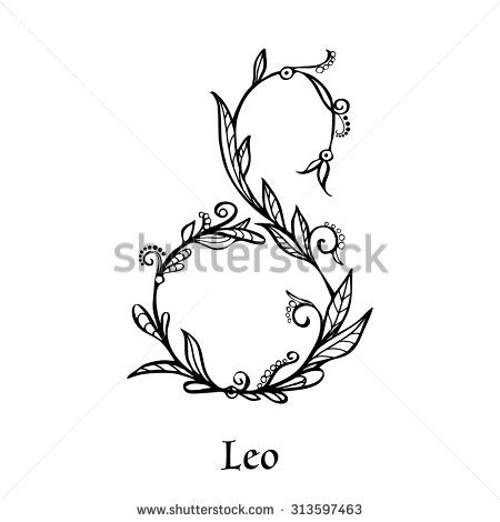 Leo Zodiac Horoscope Sign Symbol Tattoo Designs (127)