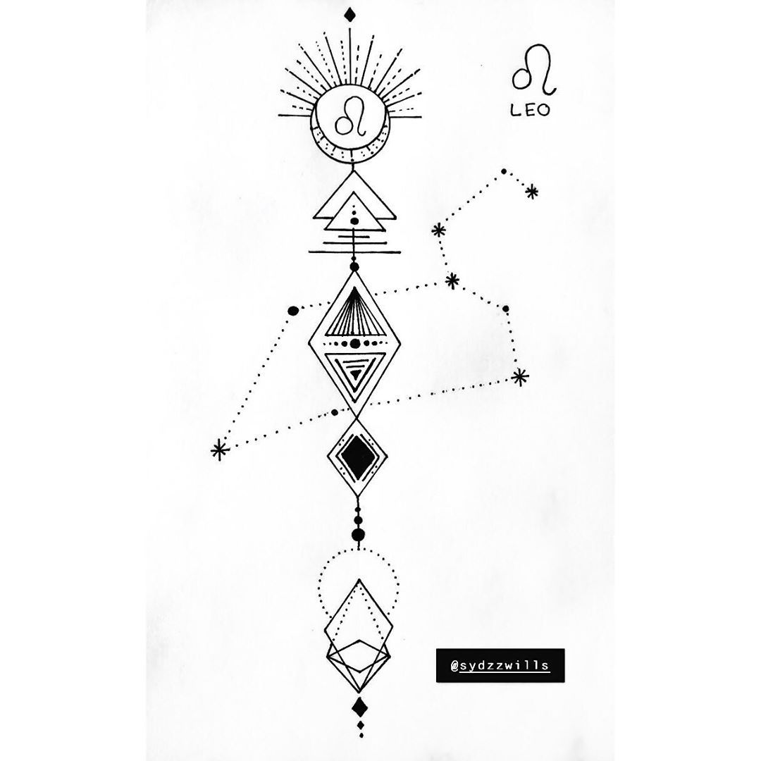 Leo Zodiac Horoscope Sign Symbol Tattoo Designs (13)