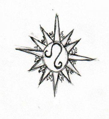 Leo Zodiac Horoscope Sign Symbol Tattoo Designs (132)