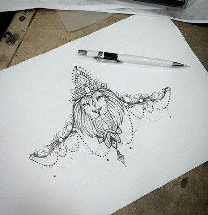 Leo Zodiac Horoscope Sign Symbol Tattoo Designs (136)