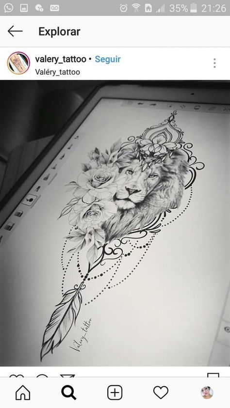Leo Zodiac Horoscope Sign Symbol Tattoo Designs (137)