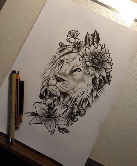 Leo Zodiac Horoscope Sign Symbol Tattoo Designs (139)