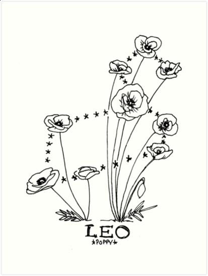 Leo Zodiac Horoscope Sign Symbol Tattoo Designs (14)