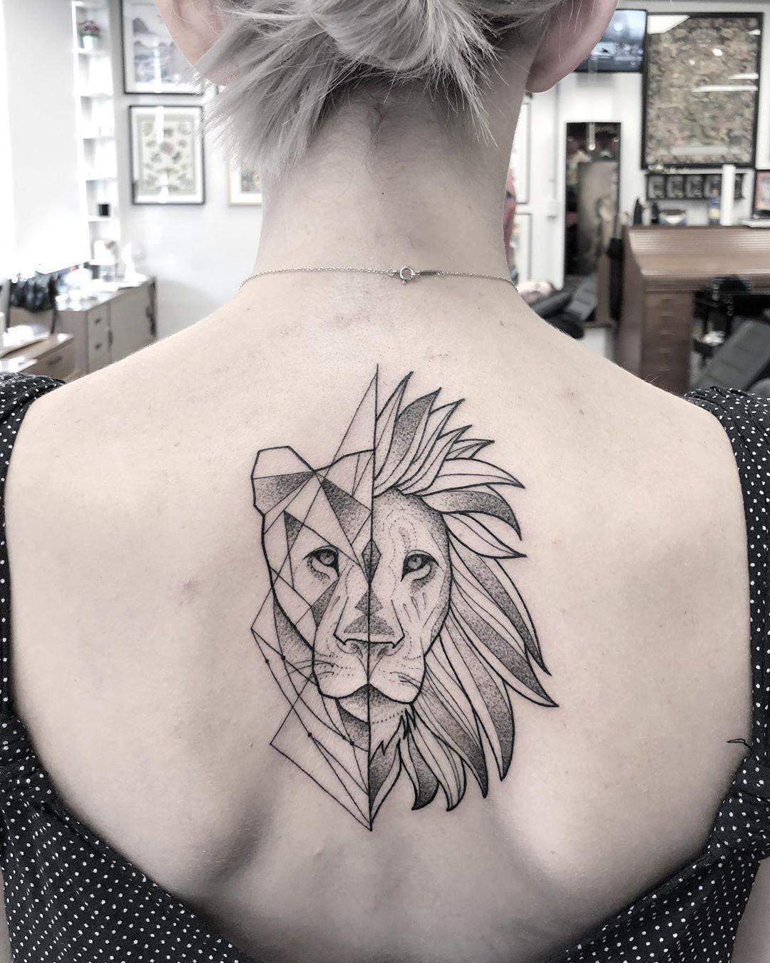 Leo Zodiac Horoscope Sign Symbol Tattoo Designs (142)