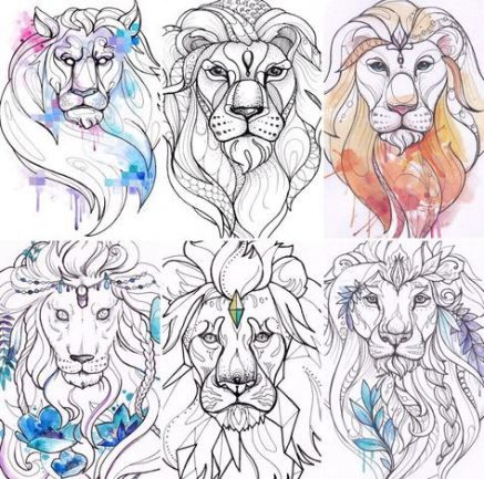 Leo Zodiac Horoscope Sign Symbol Tattoo Designs (145)