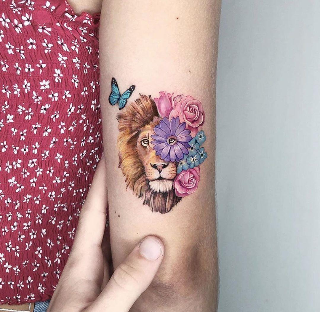 Leo Zodiac Horoscope Sign Symbol Tattoo Designs (146)