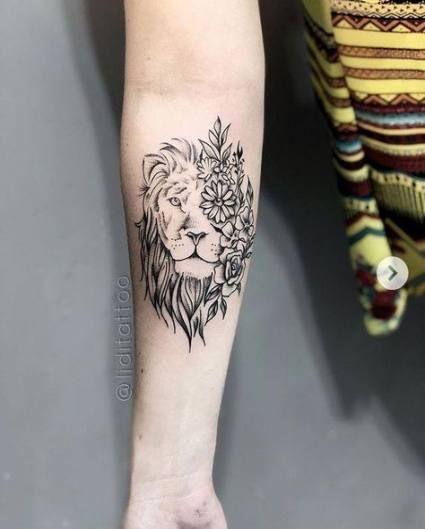 Leo Zodiac Horoscope Sign Symbol Tattoo Designs (148)