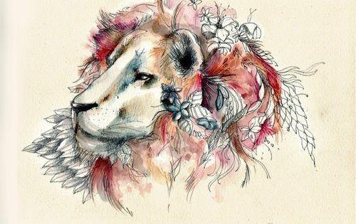 Leo Zodiac Horoscope Sign Symbol Tattoo Designs (151)