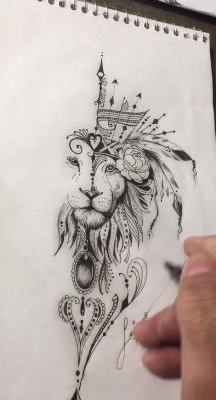 Leo Zodiac Horoscope Sign Symbol Tattoo Designs (165)