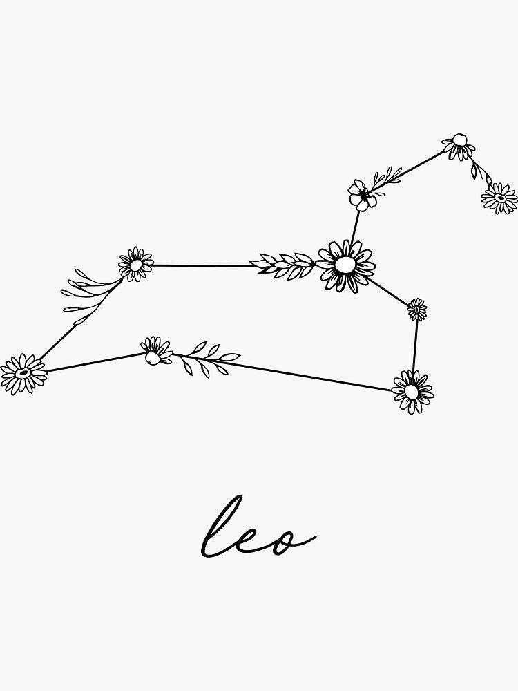 Leo Zodiac Horoscope Sign Symbol Tattoo Designs (168)