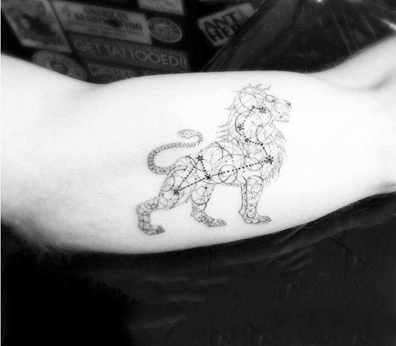 Leo Zodiac Horoscope Sign Symbol Tattoo Designs (169)