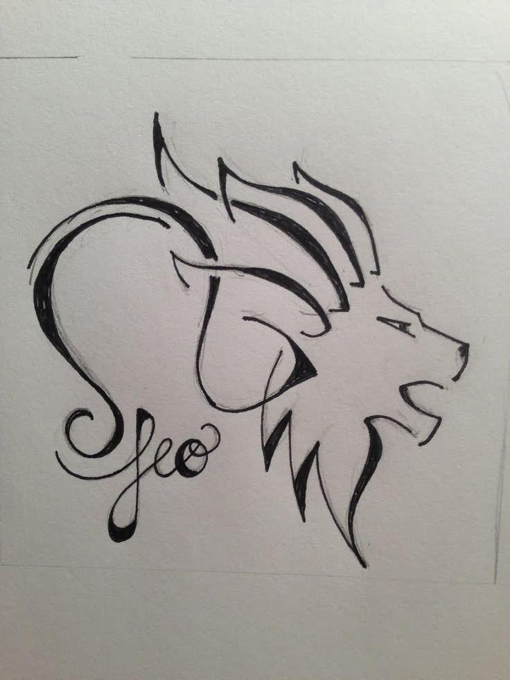 Leo Zodiac Horoscope Sign Symbol Tattoo Designs (175)