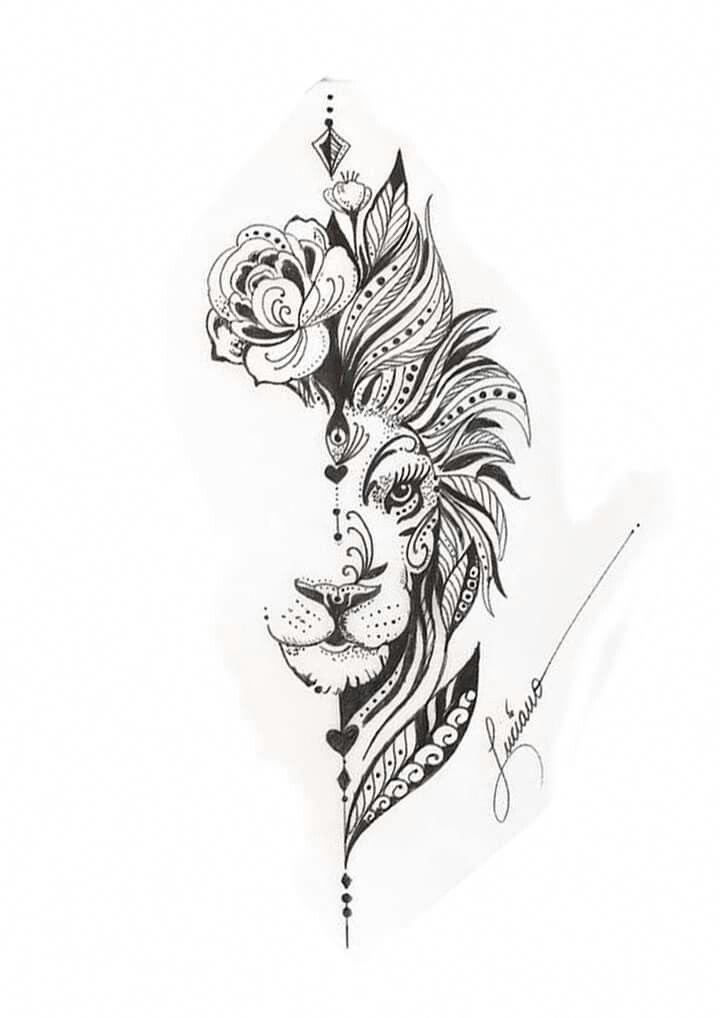 Leo Zodiac Horoscope Sign Symbol Tattoo Designs (182)