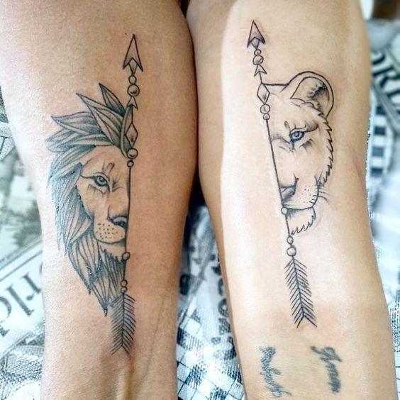 Leo Zodiac Horoscope Sign Symbol Tattoo Designs (196)