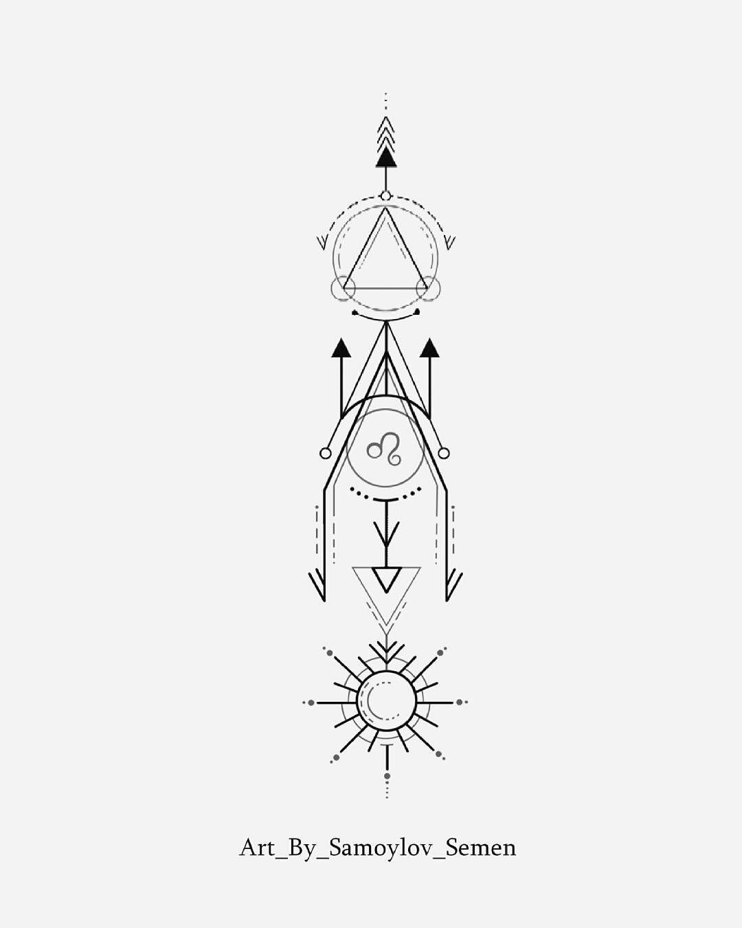 Leo Zodiac Horoscope Sign Symbol Tattoo Designs (197)