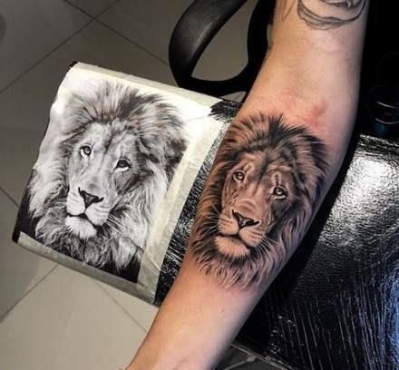 Leo Zodiac Horoscope Sign Symbol Tattoo Designs (206)