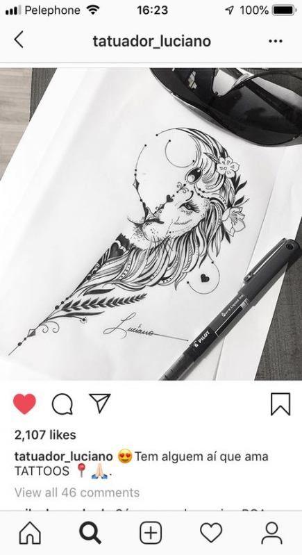 Leo Zodiac Horoscope Sign Symbol Tattoo Designs (207)