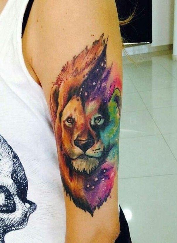 Leo Zodiac Horoscope Sign Symbol Tattoo Designs (209)