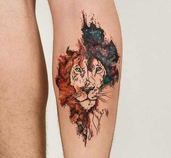 Leo Zodiac Horoscope Sign Symbol Tattoo Designs (216)