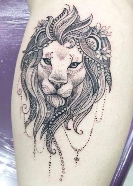 Leo Zodiac Horoscope Sign Symbol Tattoo Designs (218)