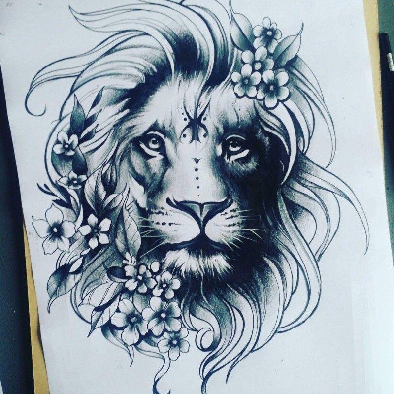 Leo Zodiac Horoscope Sign Symbol Tattoo Designs (25)