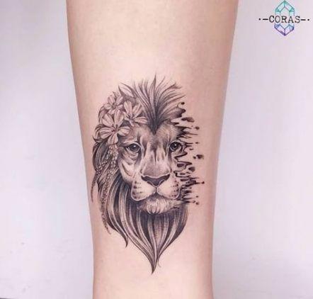 Leo Zodiac Horoscope Sign Symbol Tattoo Designs (3)