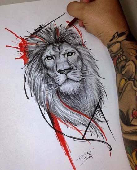 Leo Zodiac Horoscope Sign Symbol Tattoo Designs (37)