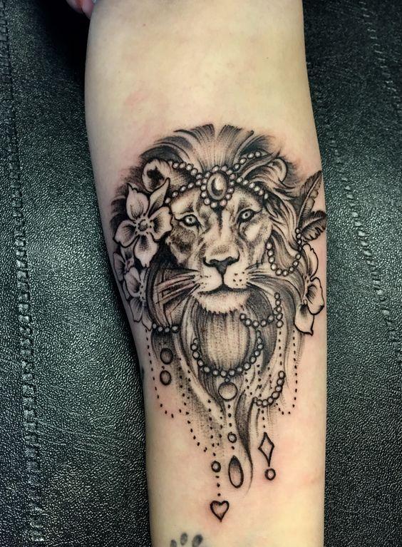 Leo Zodiac Horoscope Sign Symbol Tattoo Designs (40)