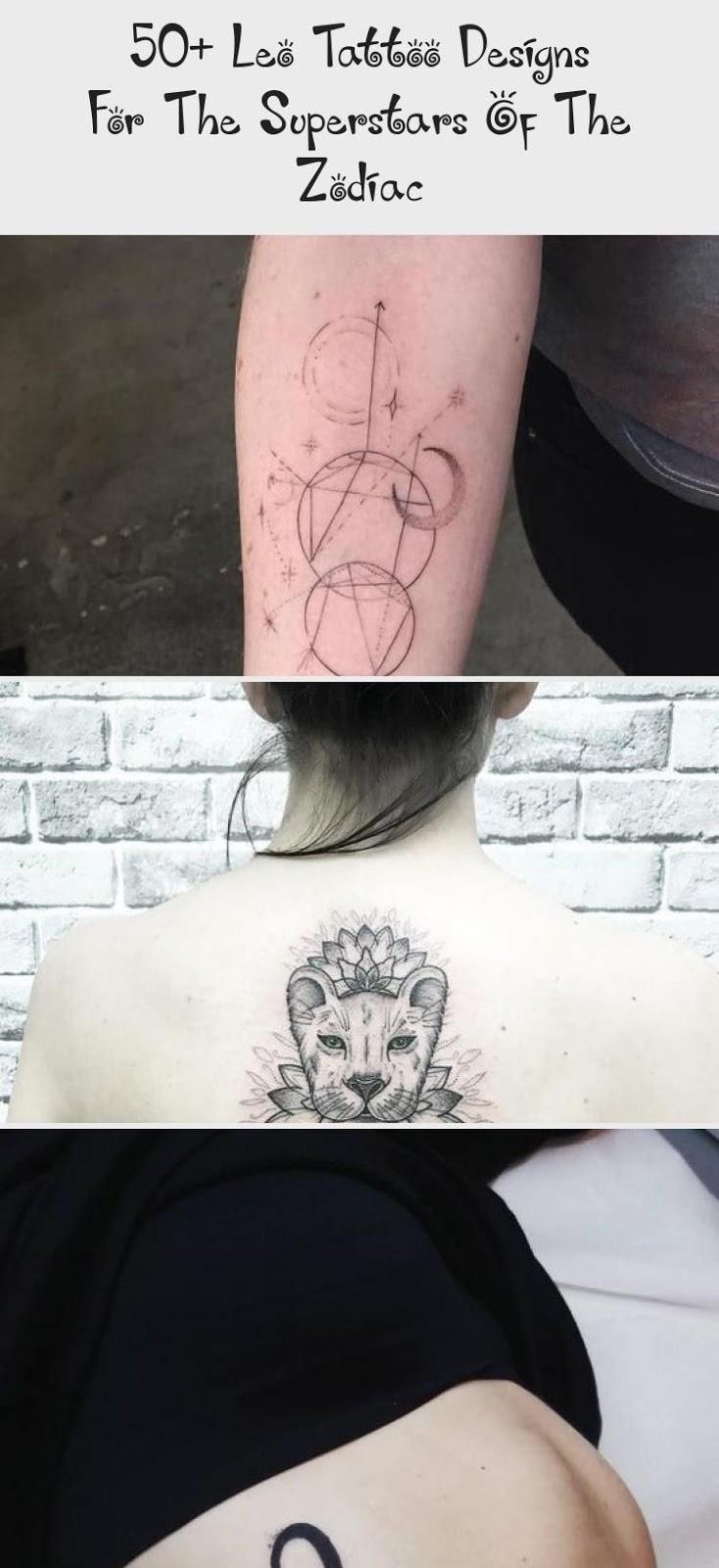 Leo Zodiac Horoscope Sign Symbol Tattoo Designs (46)