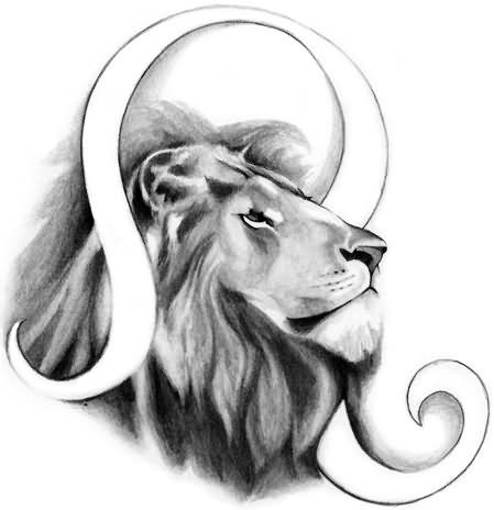 Leo Zodiac Horoscope Sign Symbol Tattoo Designs (49)