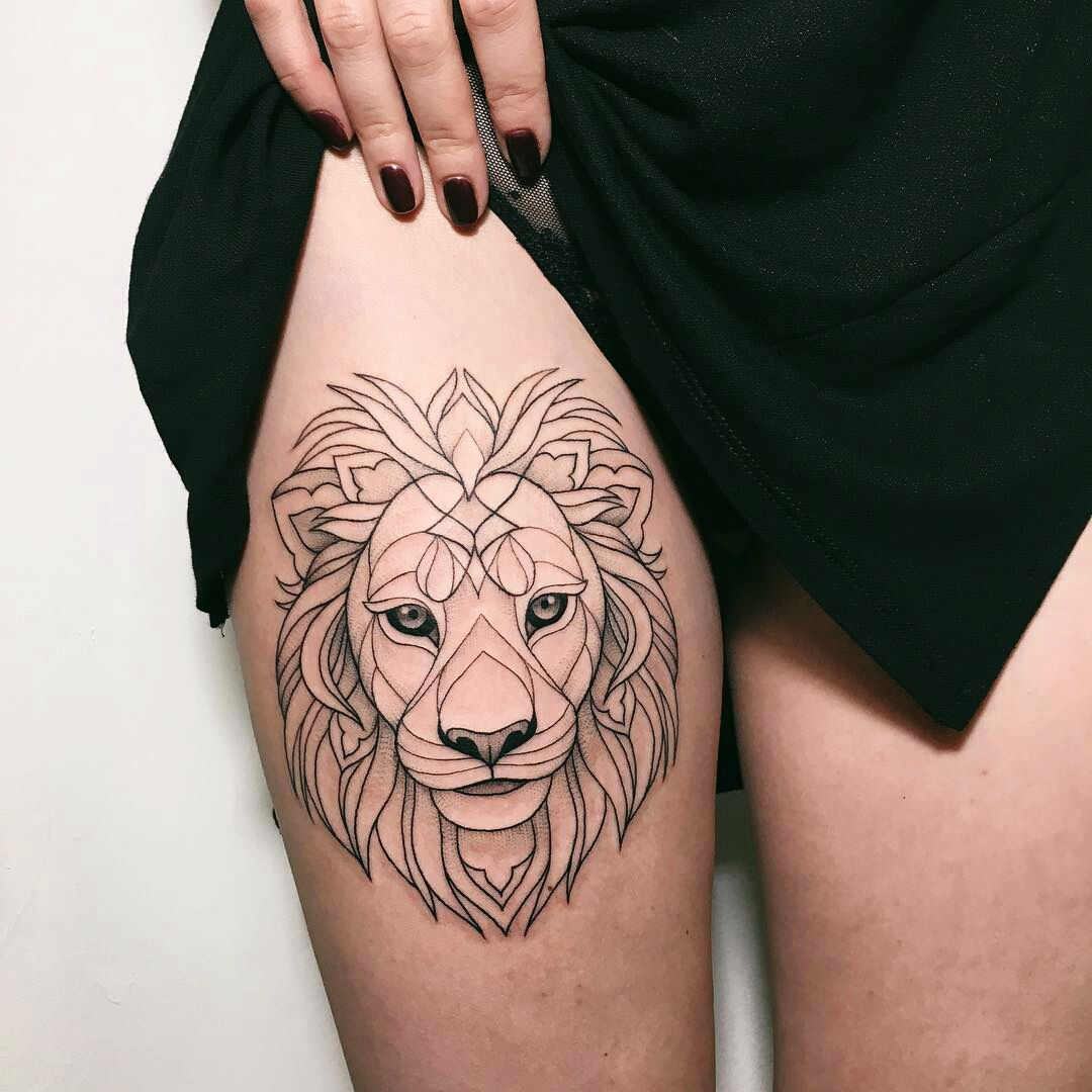 Leo Zodiac Horoscope Sign Symbol Tattoo Designs (5)