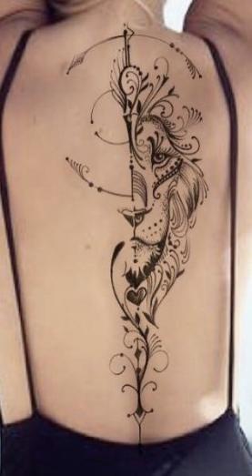 Leo Zodiac Horoscope Sign Symbol Tattoo Designs (51)