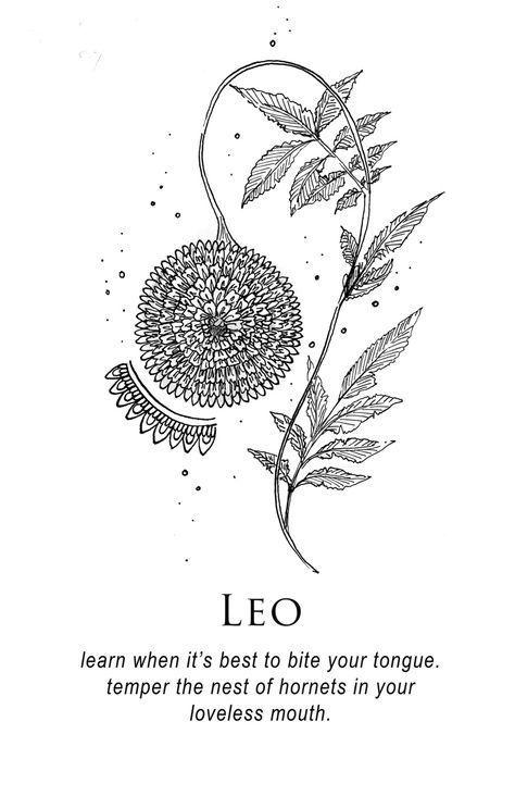 Leo Zodiac Horoscope Sign Symbol Tattoo Designs (53)
