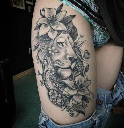 Leo Zodiac Horoscope Sign Symbol Tattoo Designs (57)