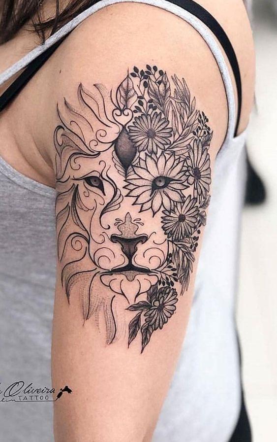Leo Zodiac Horoscope Sign Symbol Tattoo Designs (59)