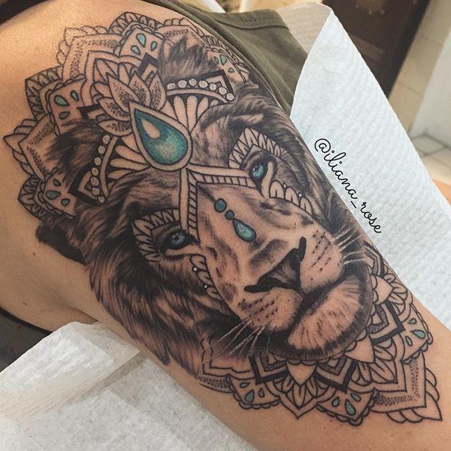 Leo Zodiac Horoscope Sign Symbol Tattoo Designs (60)