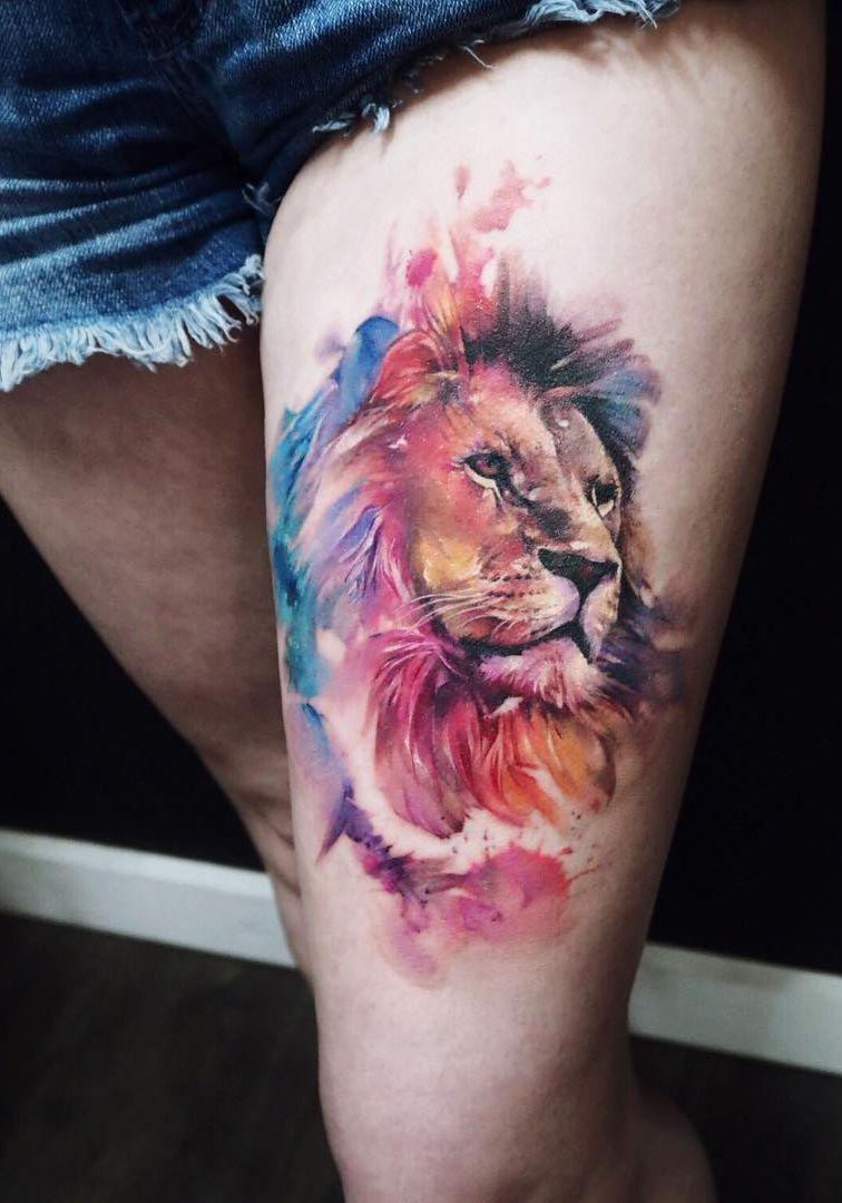 Leo Zodiac Horoscope Sign Symbol Tattoo Designs (65)