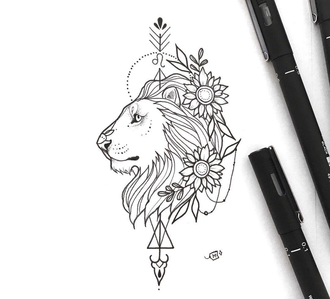 Leo Zodiac Horoscope Sign Symbol Tattoo Designs (7)