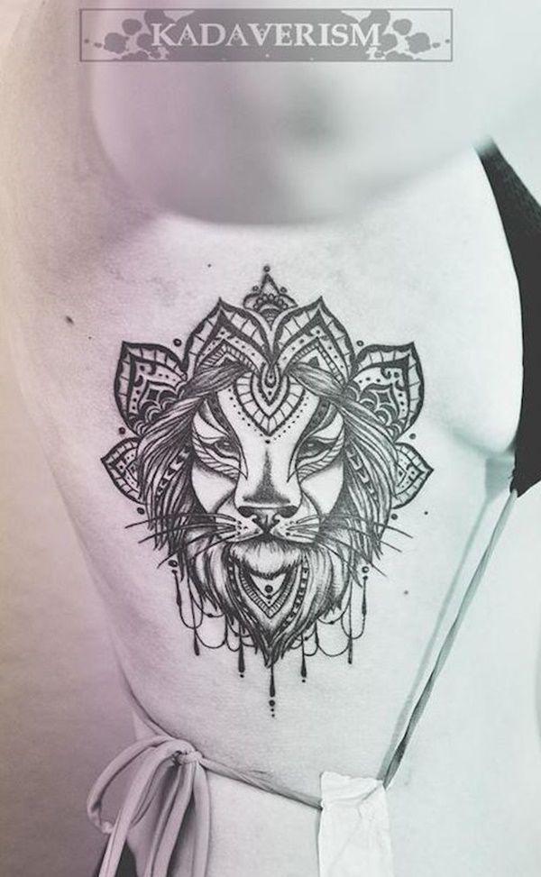 Leo Zodiac Horoscope Sign Symbol Tattoo Designs (83)