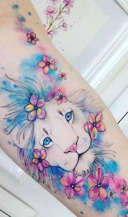 Leo Zodiac Horoscope Sign Symbol Tattoo Designs (91)