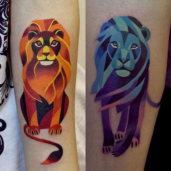 Leo Zodiac Horoscope Sign Symbol Tattoo Designs (99)