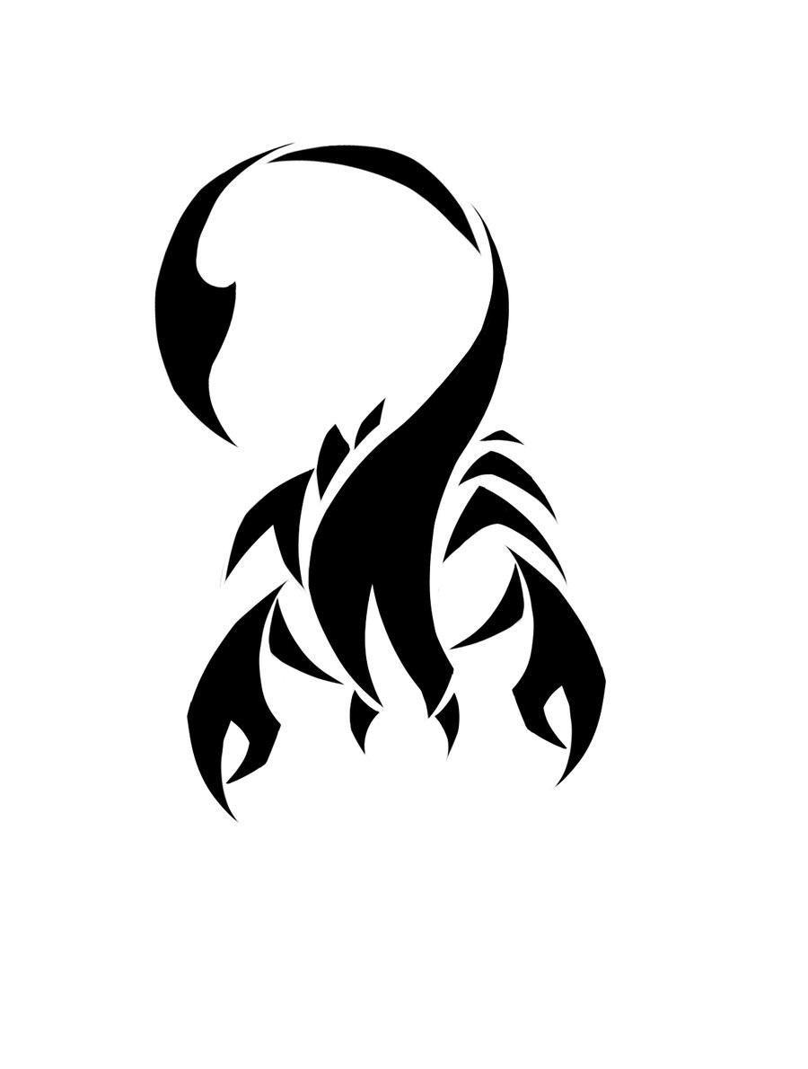 Scorpio Zodiac Horoscope Constellation Sign Symbol Tattoo (103)