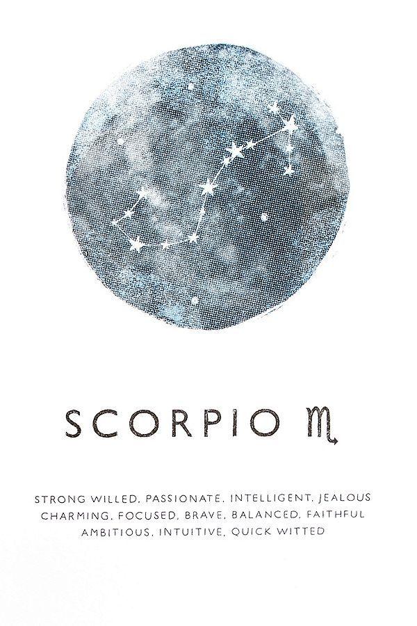 Scorpio Zodiac Horoscope Constellation Sign Symbol Tattoo (134)