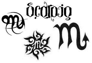 Scorpio Zodiac Horoscope Constellation Sign Symbol Tattoo (151)