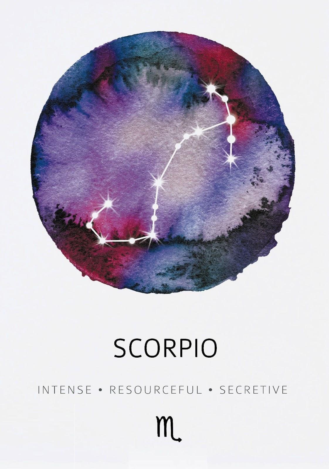 Scorpio Zodiac Horoscope Constellation Sign Symbol Tattoo (154)